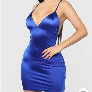 Come And see me babe Mini Dress , ( Royal)